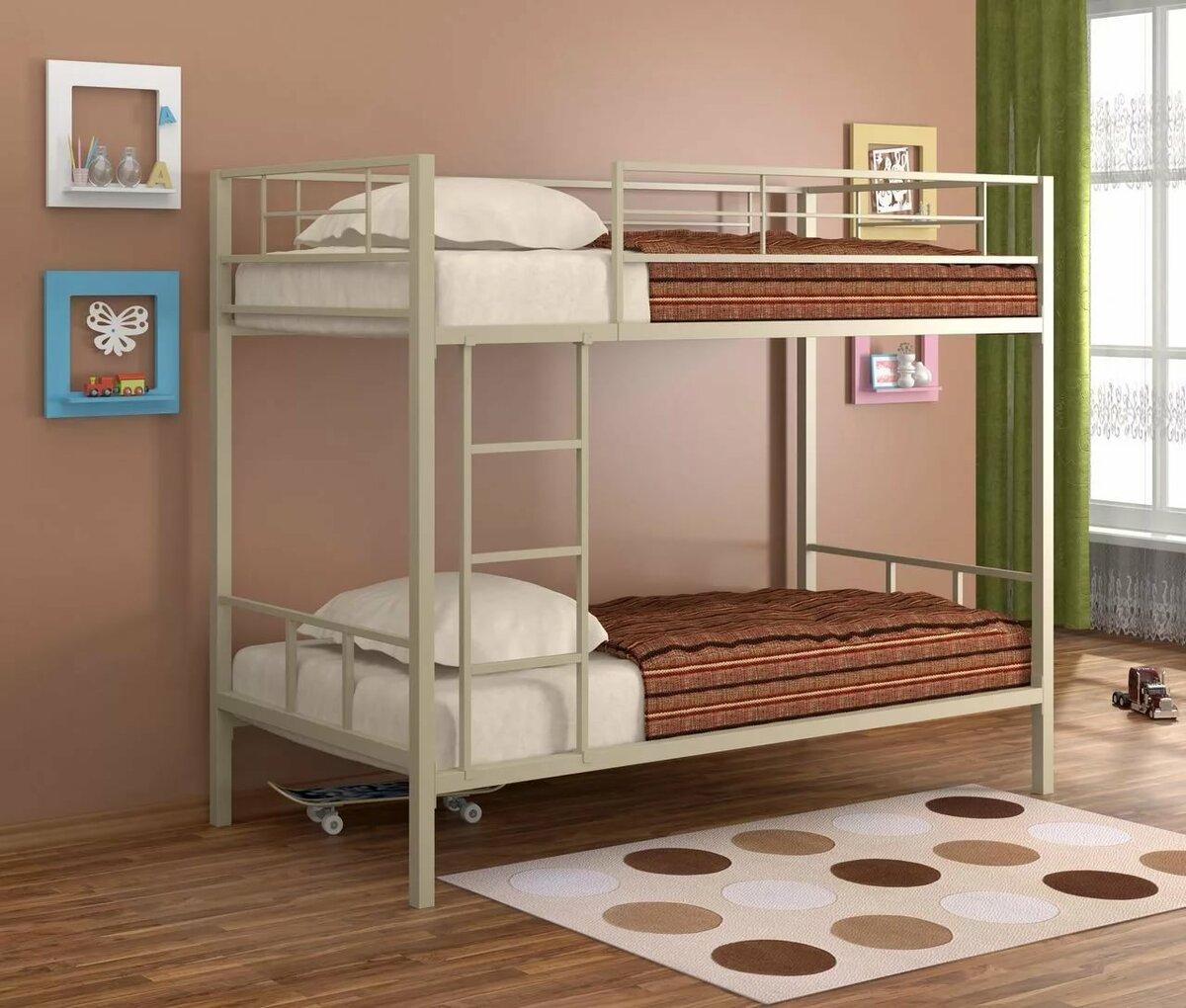 металлическая двухъярусная кровать идеи