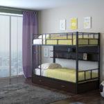 металлические двухъярусные кровати декор фото