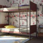 металлические двухъярусные кровати декор идеи
