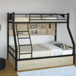 металлические двухъярусные кровати фото варианты
