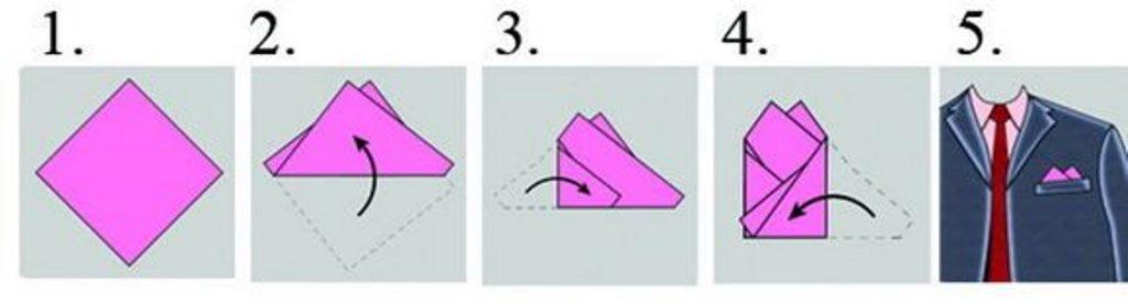нагрудный платок два угла