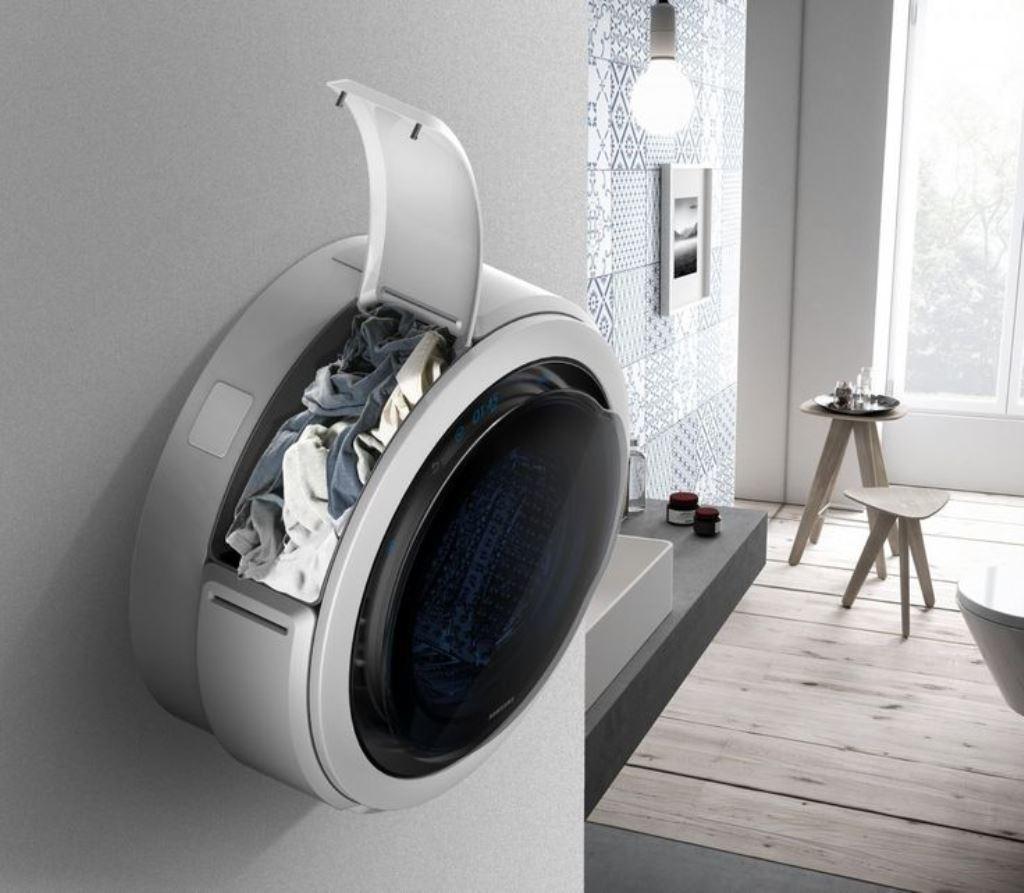 настенная стиральная машина открытая