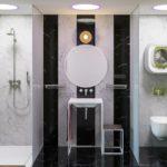 настенная стиральная машина в ванной фото