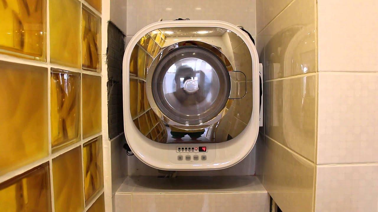 настенная стиральная машина в ванной