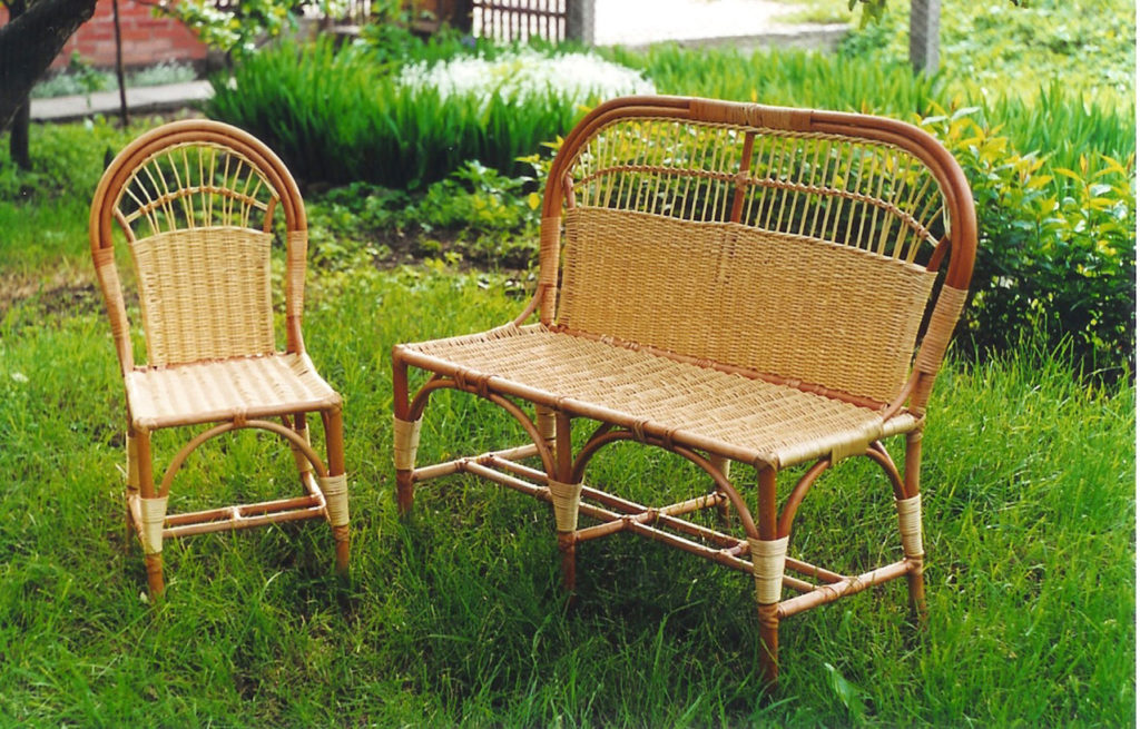 плетеную мебель