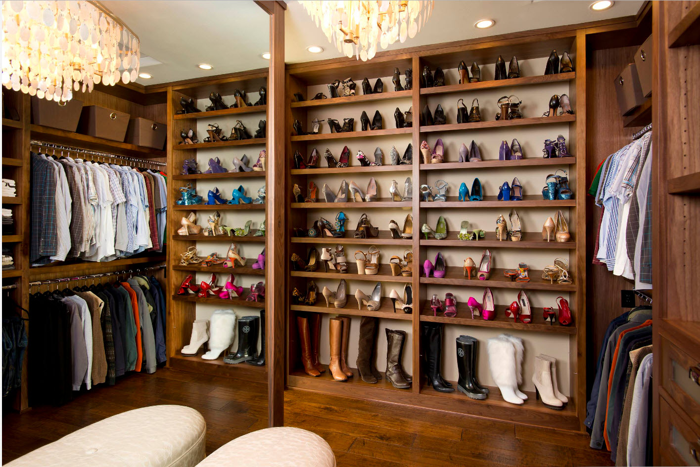 отдельная гардеробная для обуви