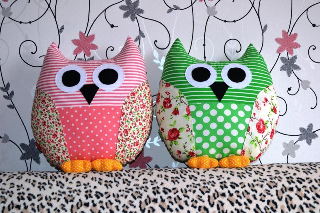 подушки для дивана совы фото