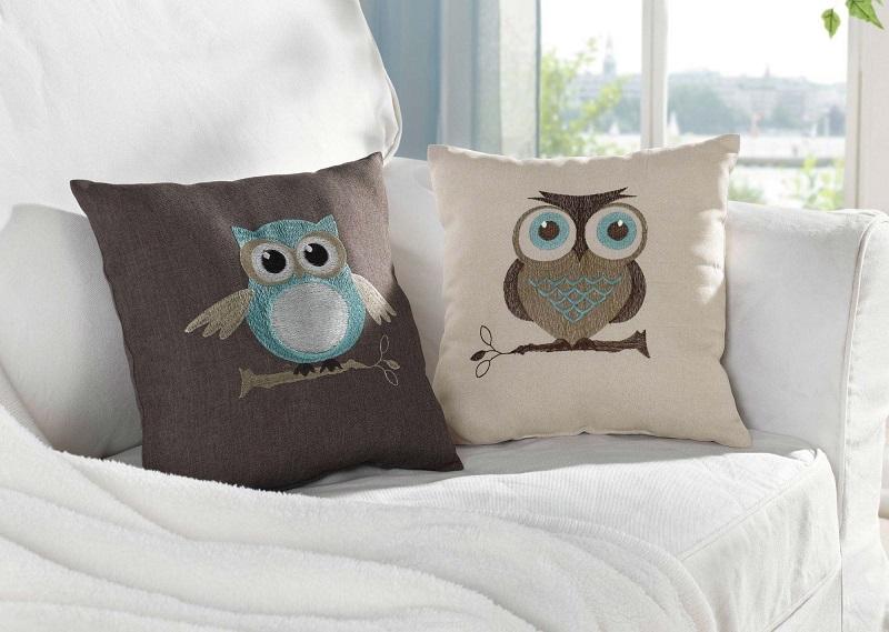 подушки для дивана совы