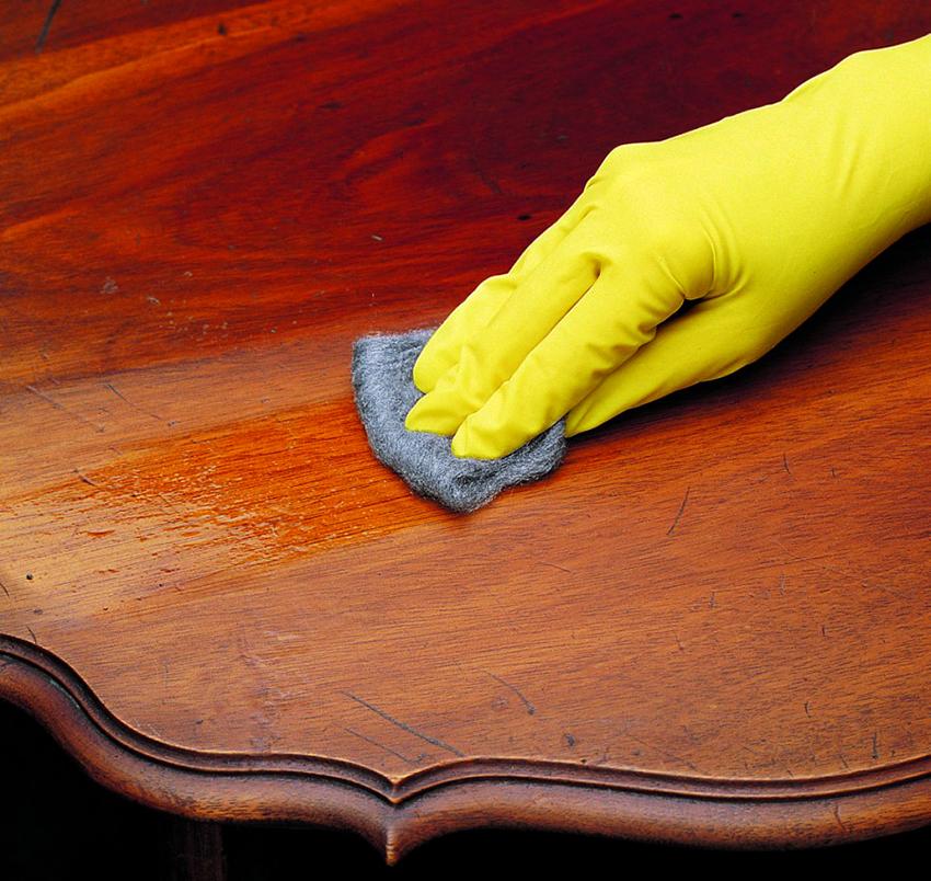 полировка мебели после воска
