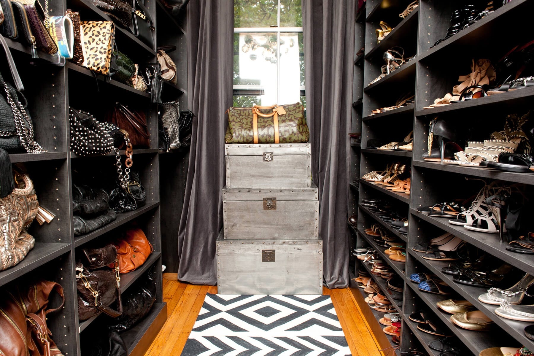 расстановка обуви в гардеробе