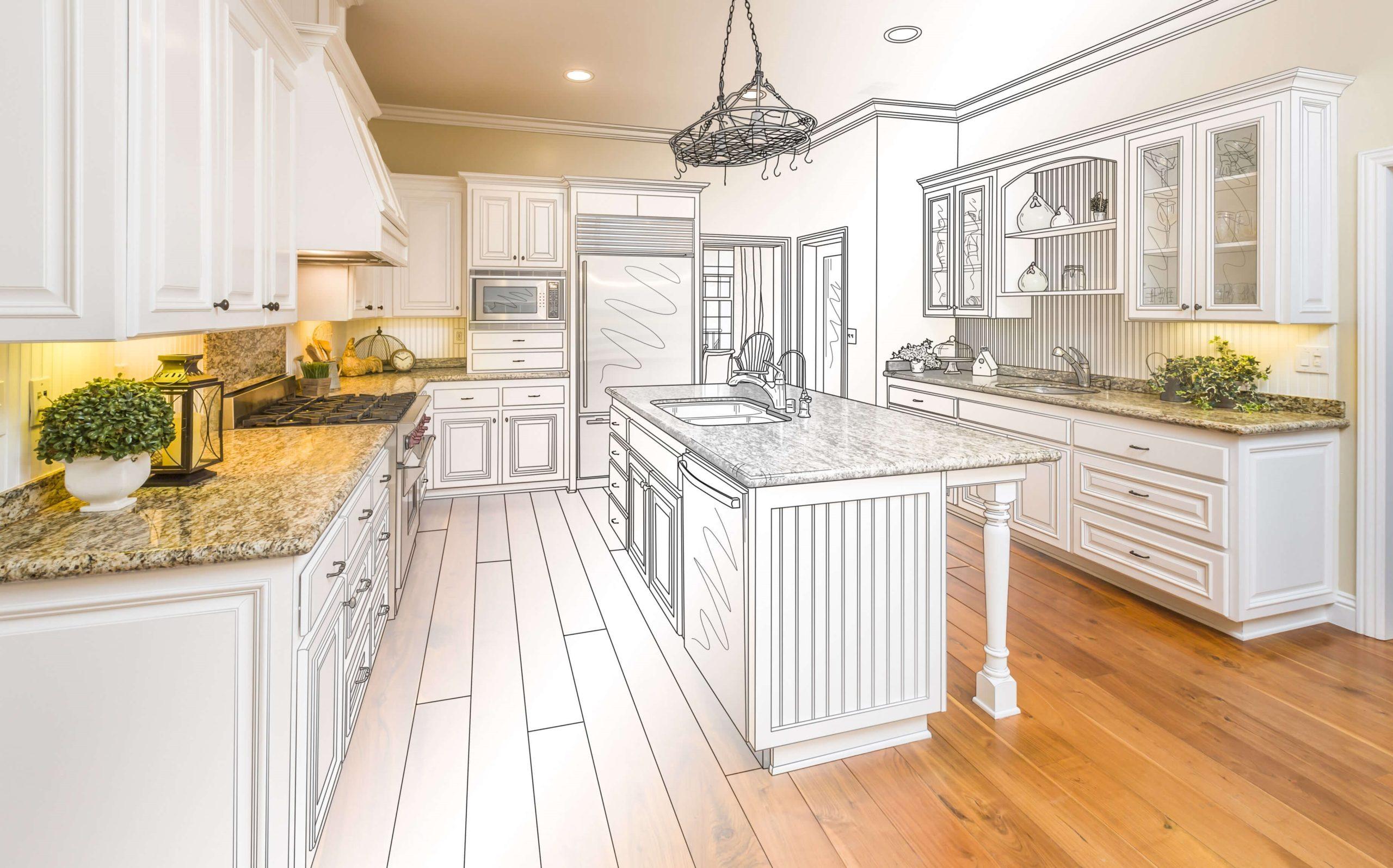 чертеж кухонных шкафов замеры