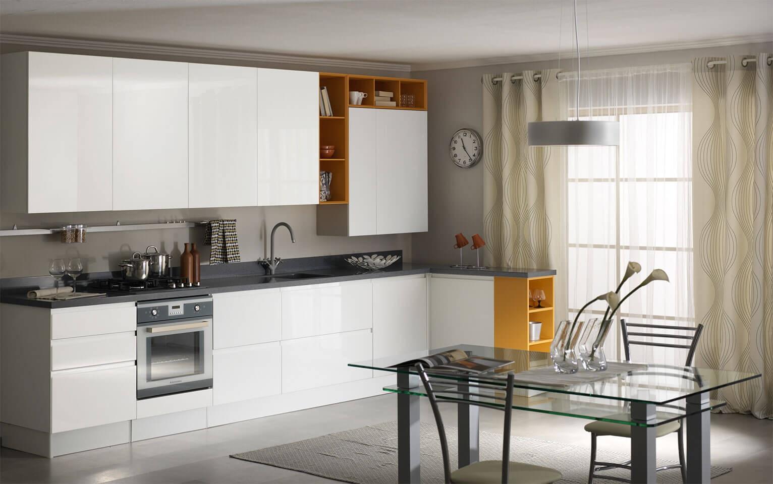 встроенная бытовая техника в кухне