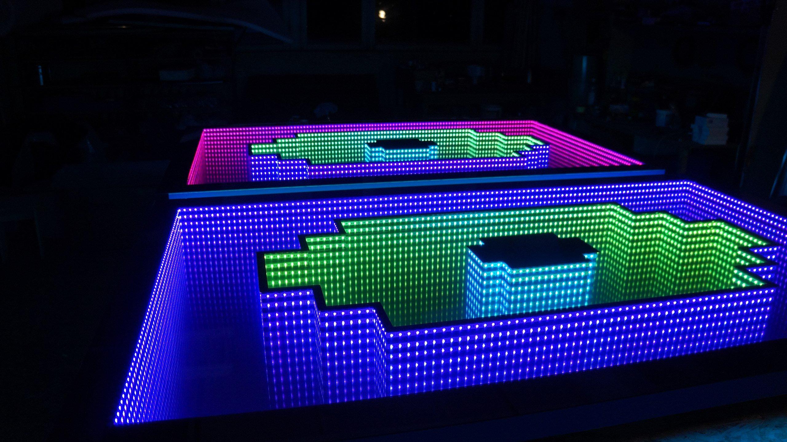 комбинированная подсветка для столика