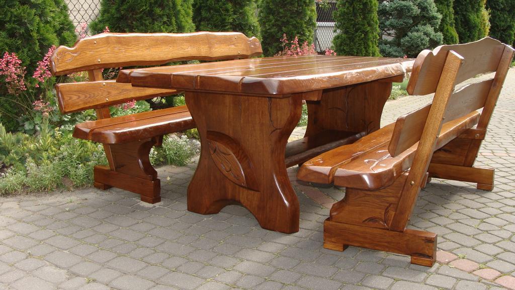 садовая мебель из дуба