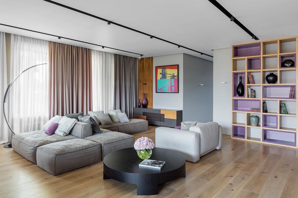 серый диван дизайн
