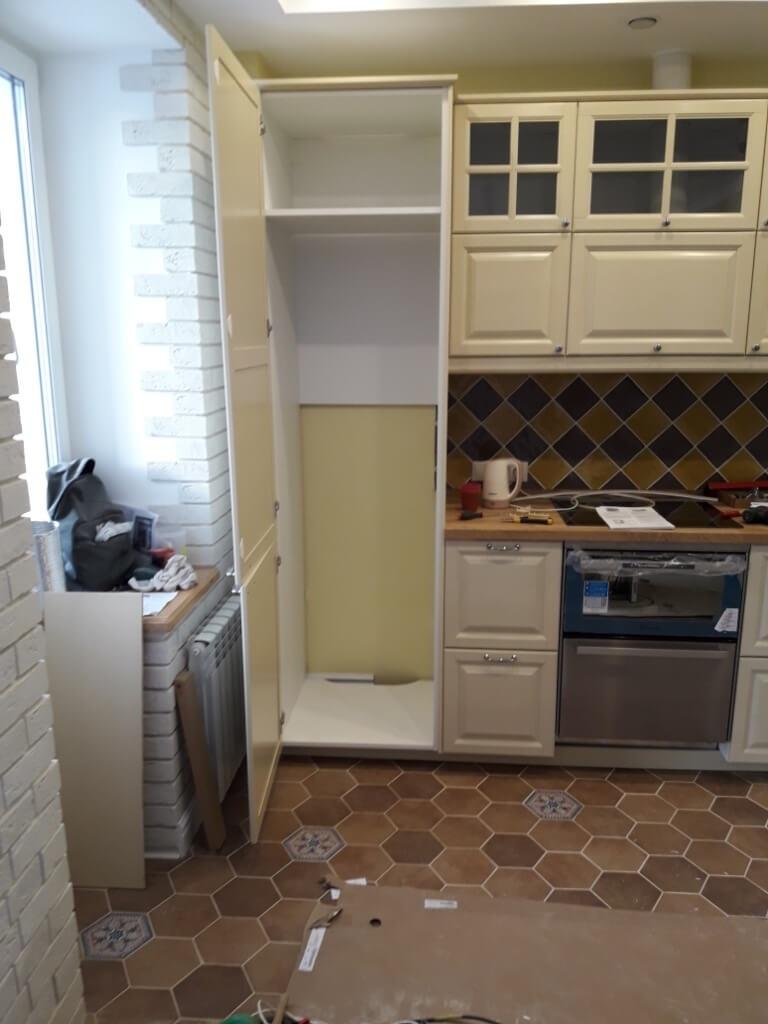 конструкция шкафа для холодильника