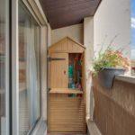 шкаф на балкон домиком