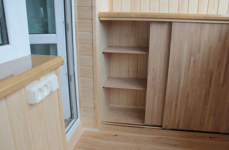 прямой шкаф на балкон