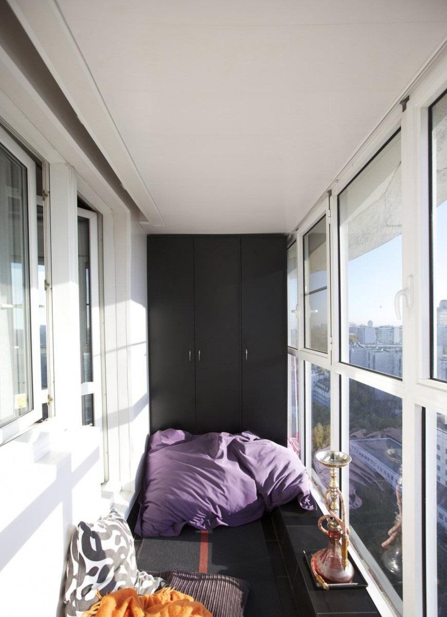 шкаф на балкон черный
