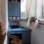 шкаф на балкон синий