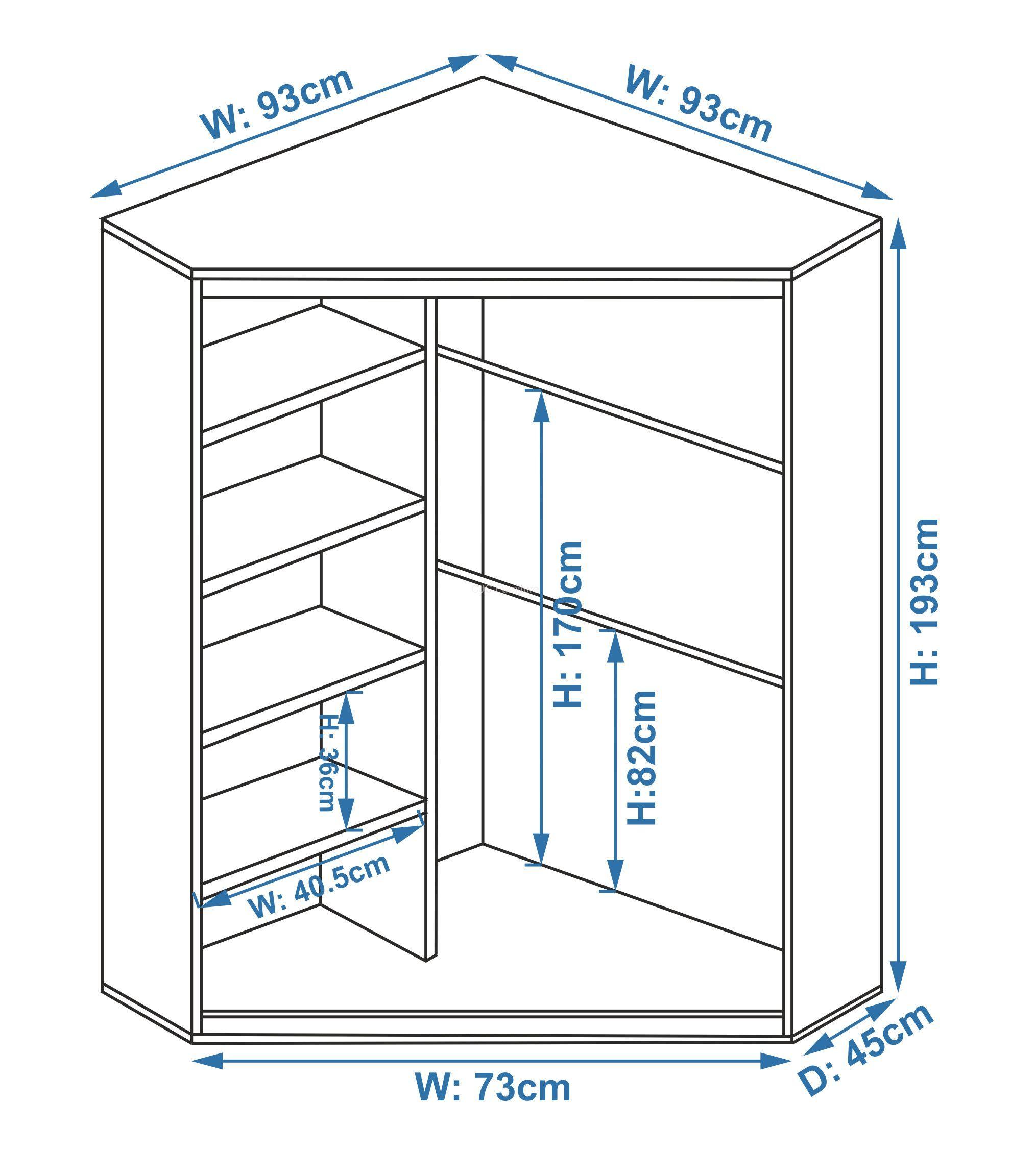 шкаф на балкон угловой чертеж