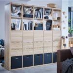 шкаф-перегородка синий стеллаж
