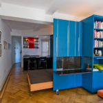 шкаф-перегородка синий