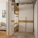 шкаф-перегородка белый с бежевым