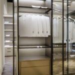 шкаф-перегородка стеклянный