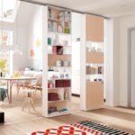 шкаф-перегородка светлый стеллаж