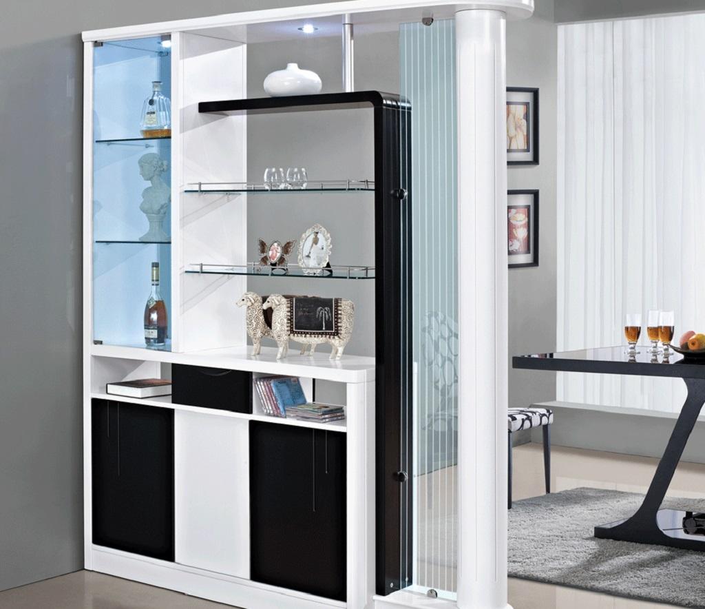 шкаф-перегородка разной формы