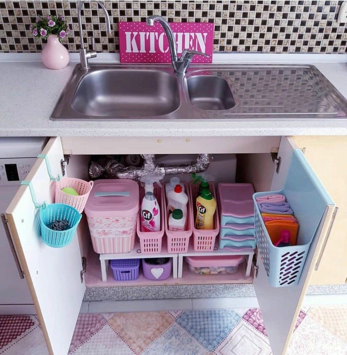 шкаф под мойку для хранения средств