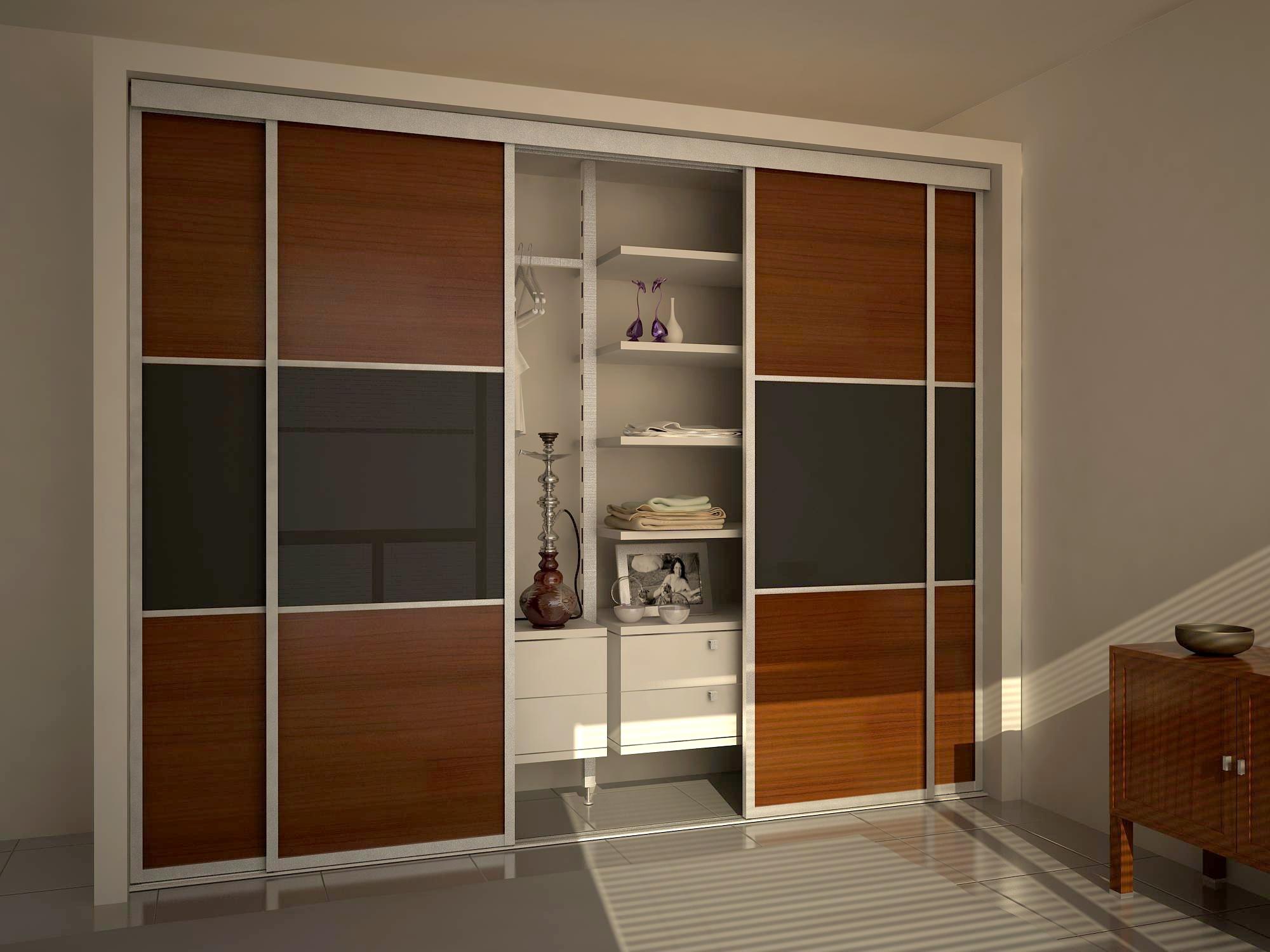шкаф-купе по типу дверей