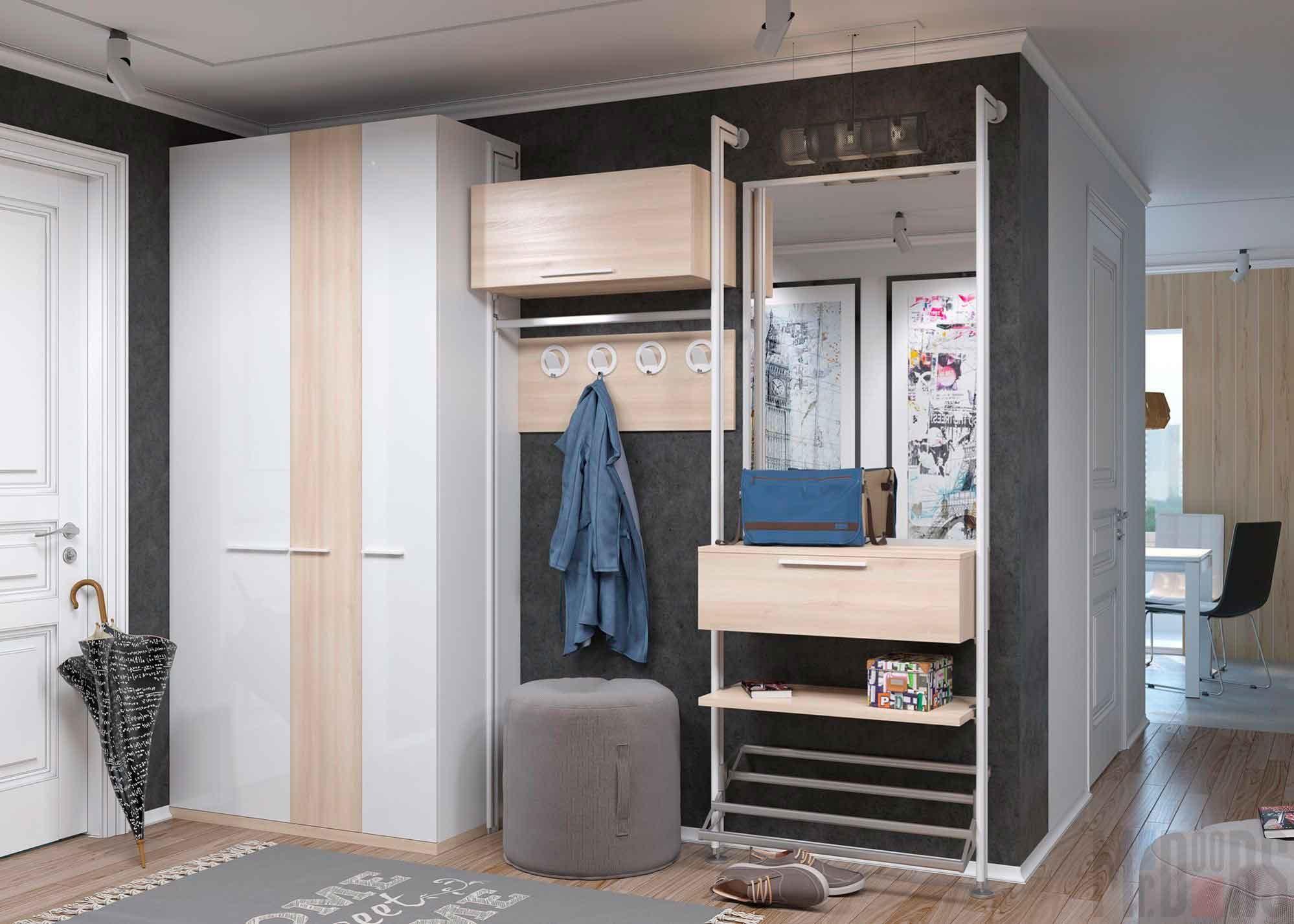 сочетание шкафа с дизайном комнаты