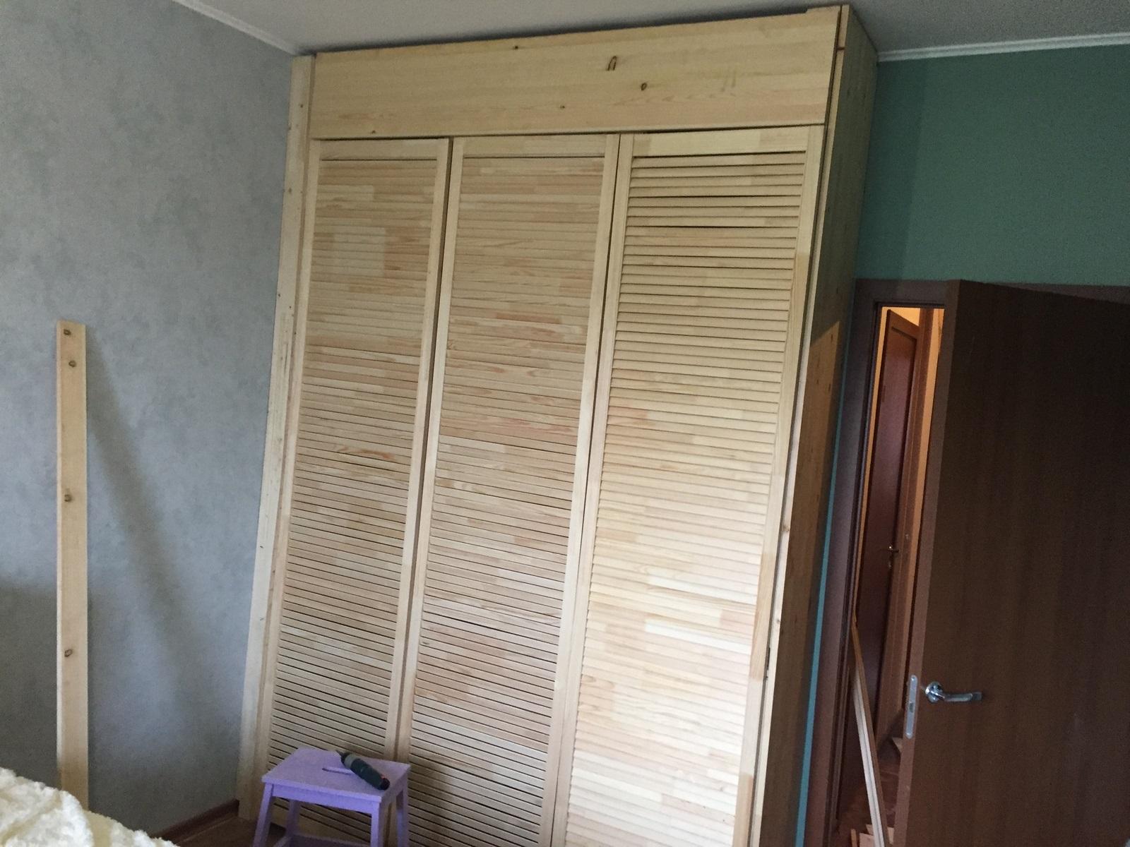 финальный этап постройки шкафа