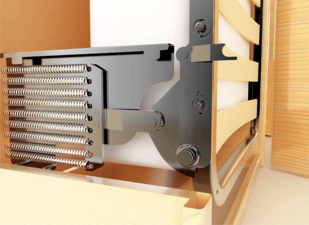 механизм опускания кровати-шкафа