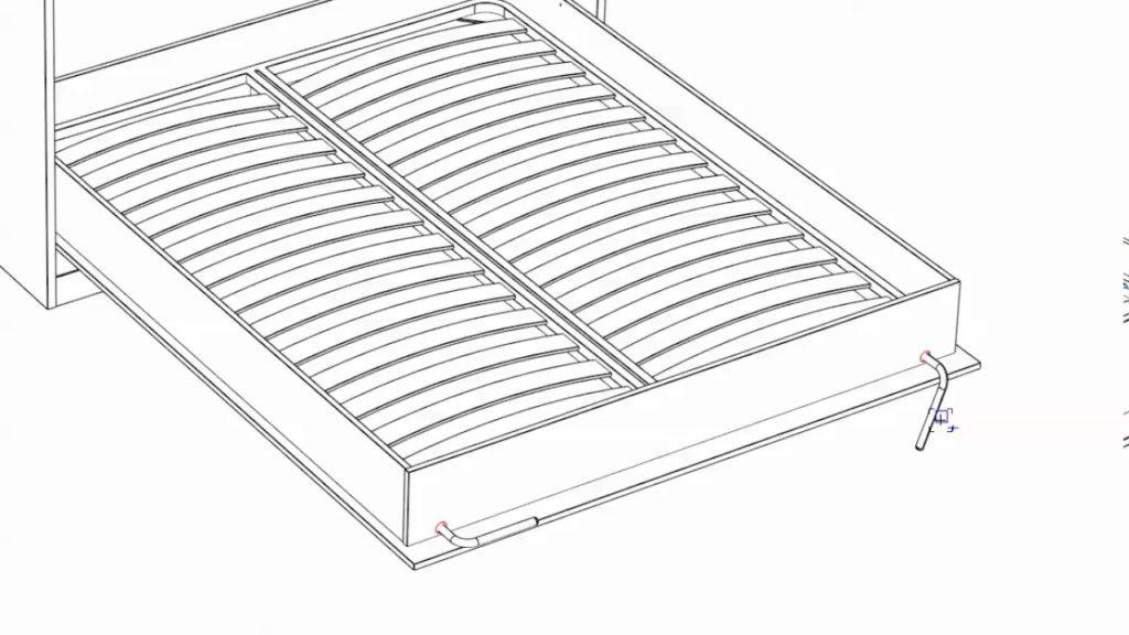 план будущей кровати-шкафа