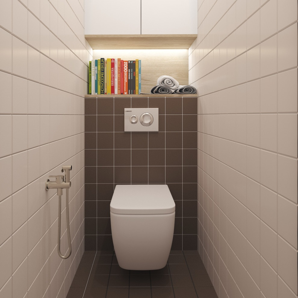 шкаф для туалета с книгами