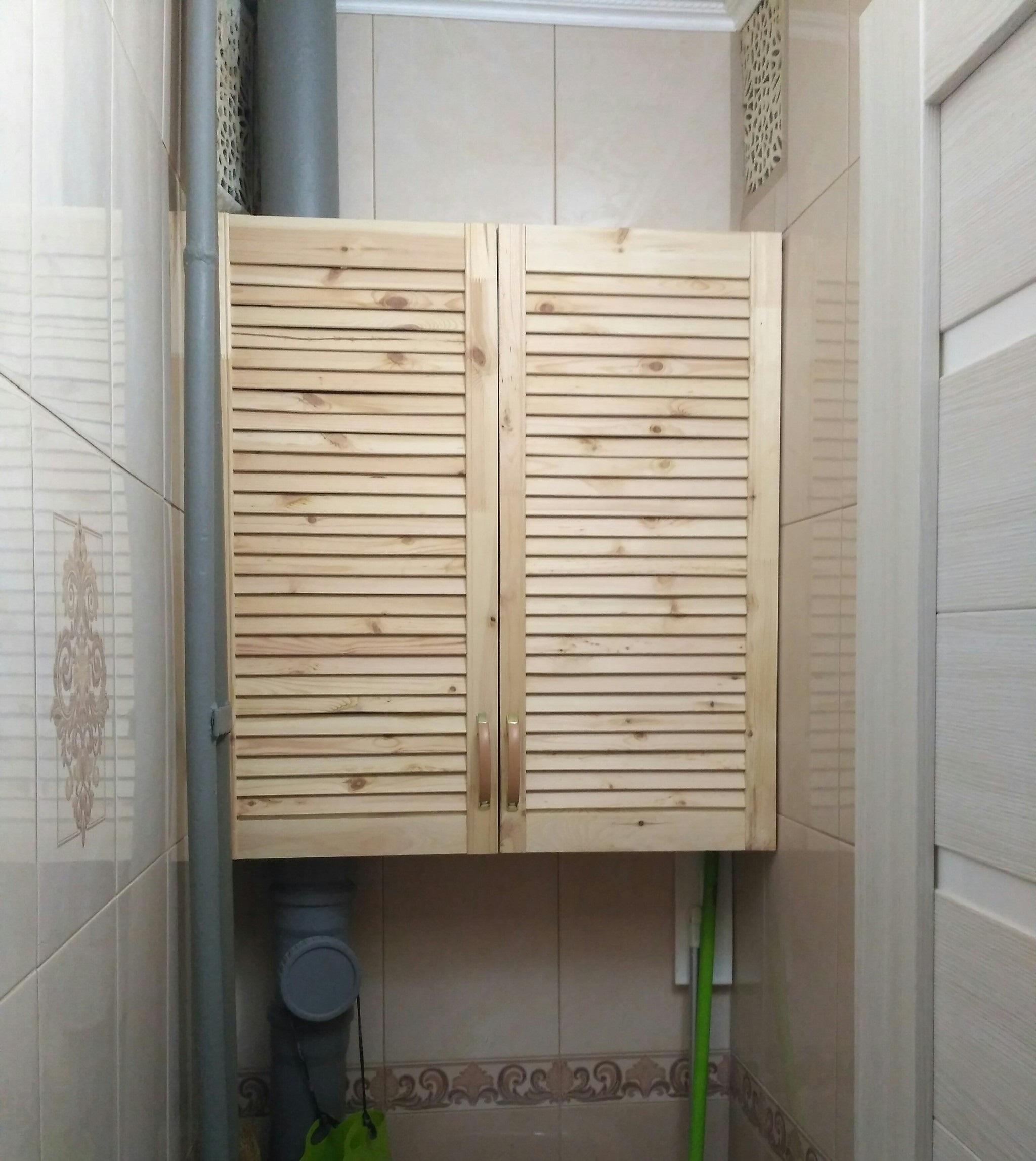 шкаф для туалета из древесины