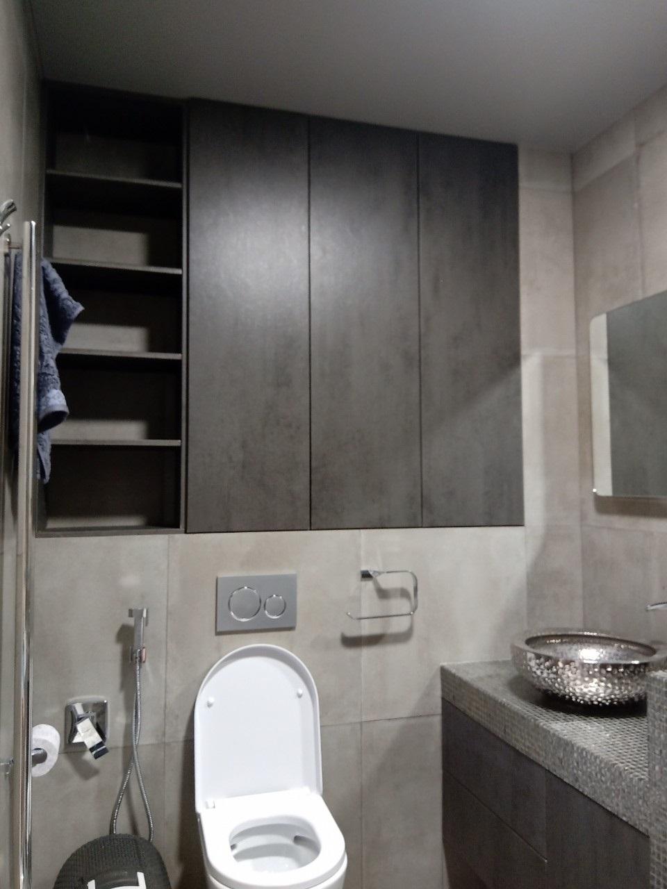 шкаф в туалет с дверями