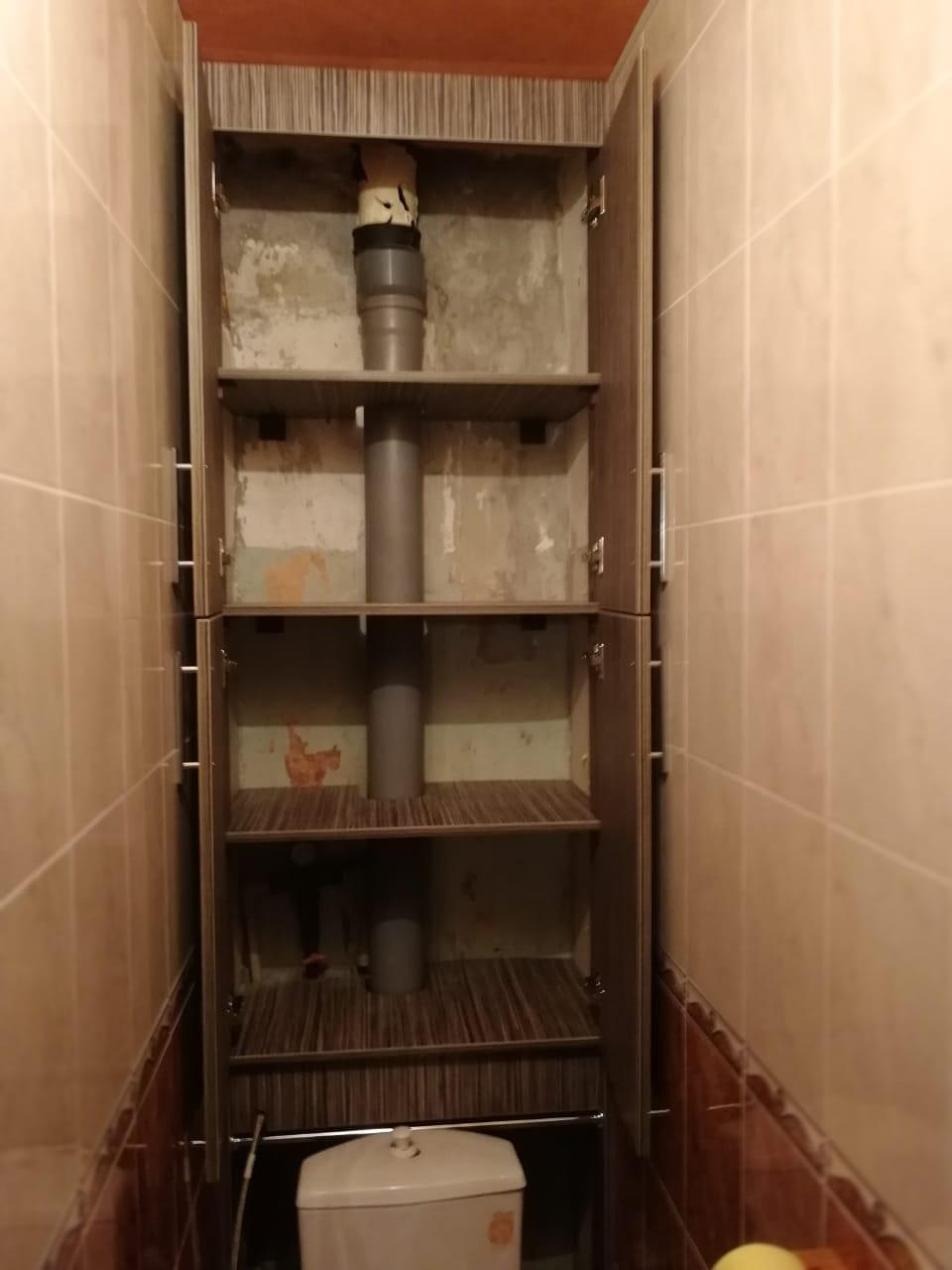 установка дверей на шкаф туалета