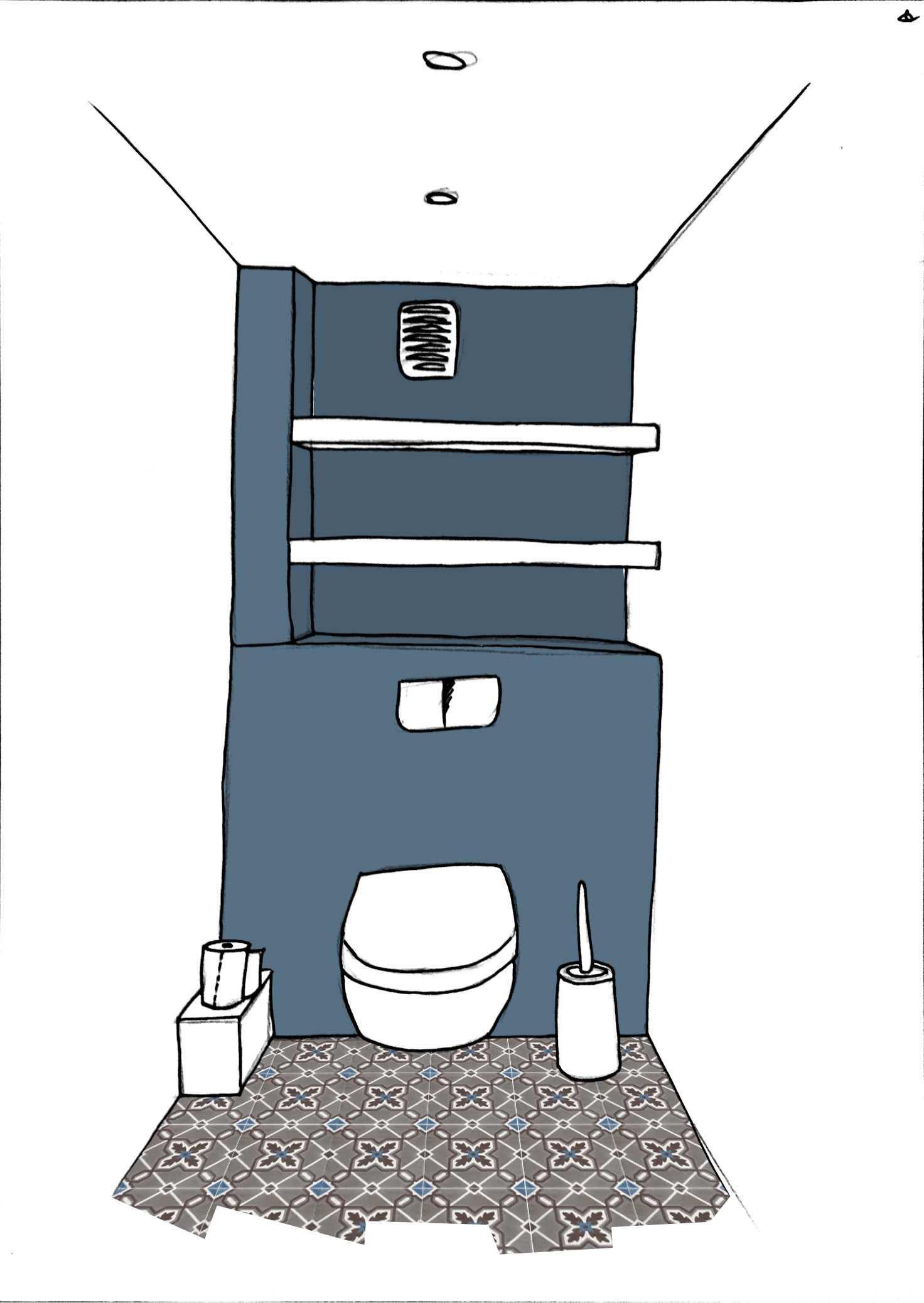 эскиз шкафа в туалет