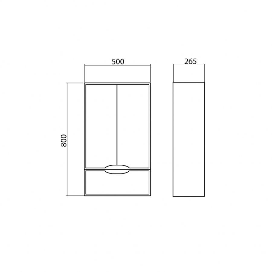 составление чертежа для шкафа в туалет