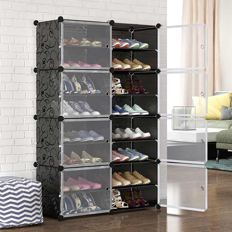 шкафы для обуви с прозрачными дверцами