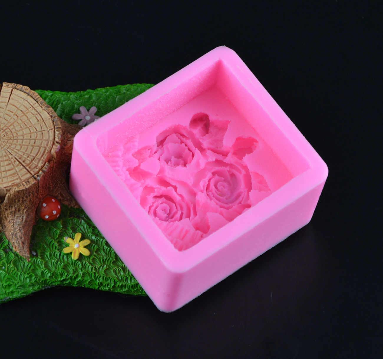 силиконовые формы для мыла розы