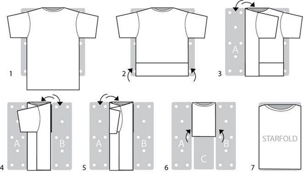 складывание футболки