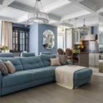 современный диван оформление фото