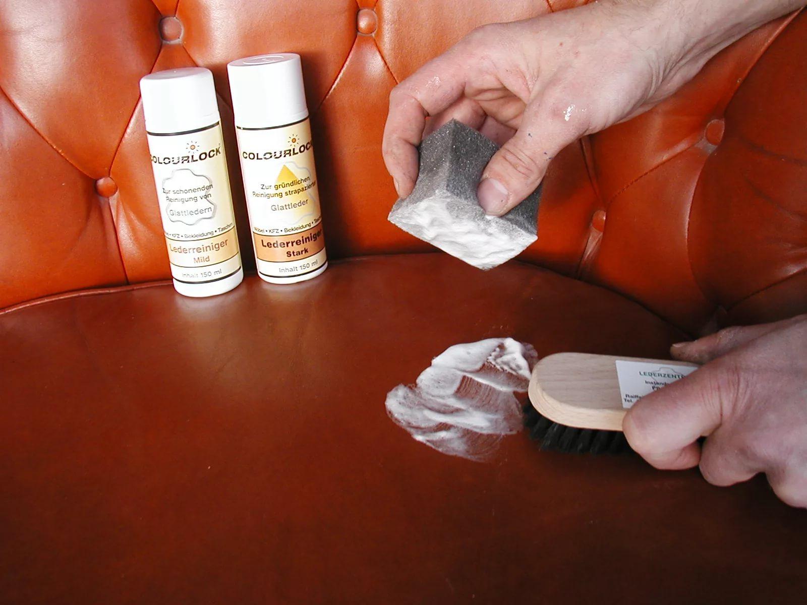 специальные средства для чистки дивана из кожи
