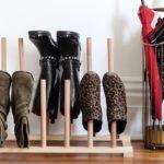 хранение обуви на рейках