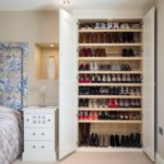 вмонтированный шкаф для хранения обуви